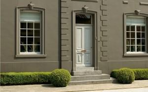Schilderwerk van buitenmuren - Peinture facade exterieure grise ...